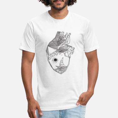 Heart Eyes Heart with an eye art - Unisex Poly Cotton T-Shirt