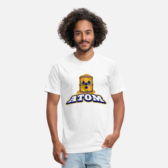 Gift Idea T-Shirts - atom - Unisex Poly Cotton T-Shirt white