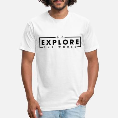 Abroad World Trip Travel Explore Black Cool Gift - Unisex Poly Cotton T-Shirt