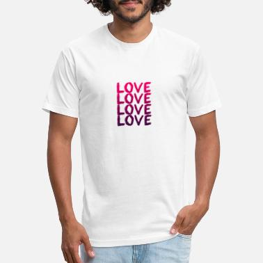 LOVE - Unisex Poly Cotton T-Shirt