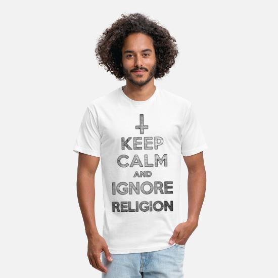 Religion T-Shirts - Keep Calm and Ignore Religion - Unisex Poly Cotton T-Shirt white