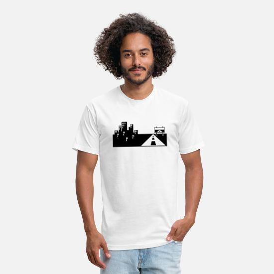 Art T-Shirts - The road - Unisex Poly Cotton T-Shirt white