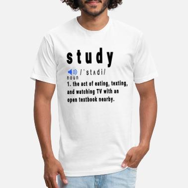 Studies Study Meaning - Unisex Poly Cotton T-Shirt