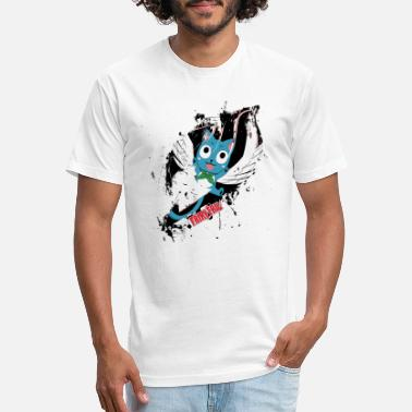 Fairy Tail Fairy Tail, Happy - Unisex Poly Cotton T-Shirt