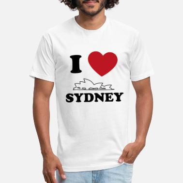 I Love Sydney I love Sydney - Unisex Poly Cotton T-Shirt