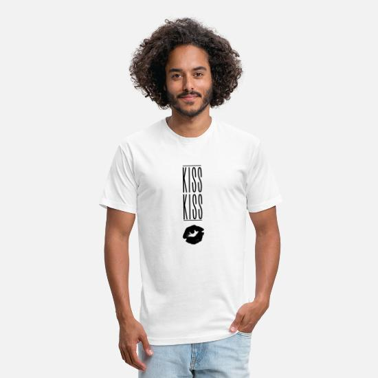 Mark T-Shirts - Kiss Kiss Exclamation mark - Unisex Poly Cotton T-Shirt white