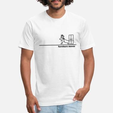 Movers Furniture Mover with Text - Unisex Poly Cotton T-Shirt