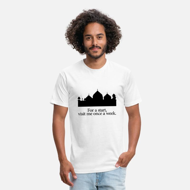 Quotes T-Shirts - Mosque quote! Perfect gift for any muslim - Unisex Poly Cotton T-Shirt white