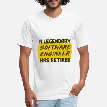 Legendary Profession Retired Legendary Software Engineer - Unisex Poly Cotton T-Shirt