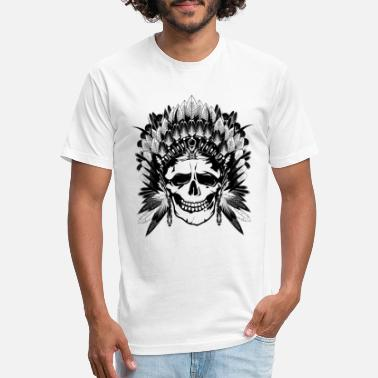 Chief Indian Chief Skull - Unisex Poly Cotton T-Shirt