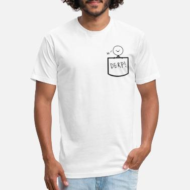 Stick Man Stickman in pocket - Unisex Poly Cotton T-Shirt