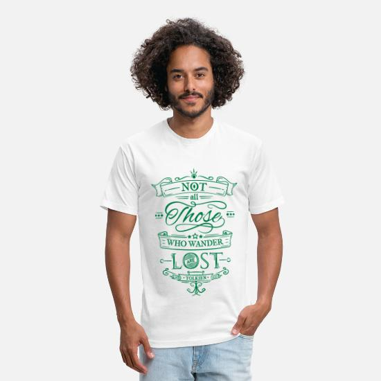 Collection T-Shirts - Not all those who wander - Unisex Poly Cotton T-Shirt white
