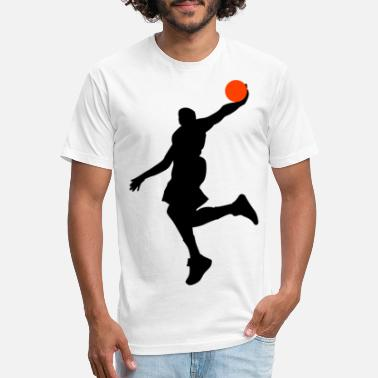 Dunking Dunk HD Design - Unisex Poly Cotton T-Shirt