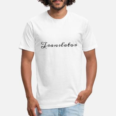 Translator Design in Historical Handwriting - Unisex Poly Cotton T-Shirt