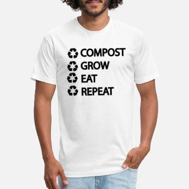 COMPOST GROW EAT REPEAT ,REDUCE REUSE RECYCLE - Unisex Poly Cotton T-Shirt