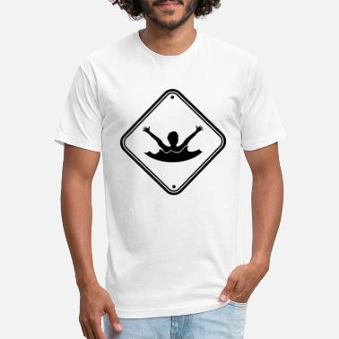 Drowning attention caution caution drowning warning help ca - Unisex Poly Cotton T-Shirt