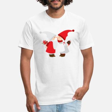 Gnome Gnomes in Love - Unisex Poly Cotton T-Shirt