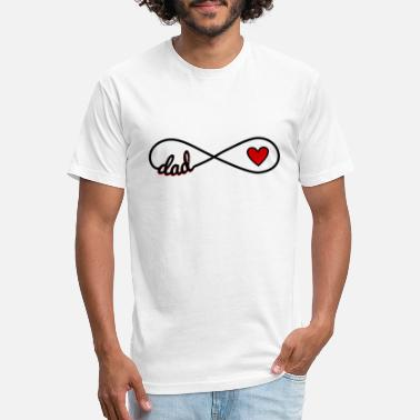 Infinity Love Infinity Love for Dad with red heart Gift idea - Unisex Poly Cotton T-Shirt