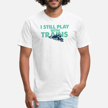 Trains Trains Railroad Railway Train Vehicle Cool Gift - Unisex Poly Cotton T-Shirt