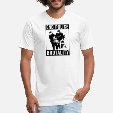 Brutality End Police Brutality Black Lives Matter Political - Unisex Poly Cotton T-Shirt