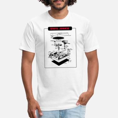Synthesizer Vinyl Junkie Retro Vintage Turntable Gift idea - Unisex Poly Cotton T-Shirt