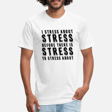Depressed Stress About Stress - Unisex Poly Cotton T-Shirt