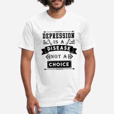 Depressed Depression is a disease not a choice - Unisex Poly Cotton T-Shirt