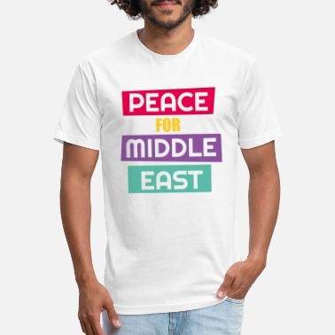 Middle East Peace For Middle East - Unisex Poly Cotton T-Shirt