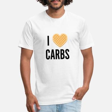 Carbs I [waffle] Carbs - Unisex Poly Cotton T-Shirt