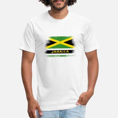 Jamaica Vintage Flag / Caribbean Gift Kingston - Unisex Poly Cotton T-Shirt