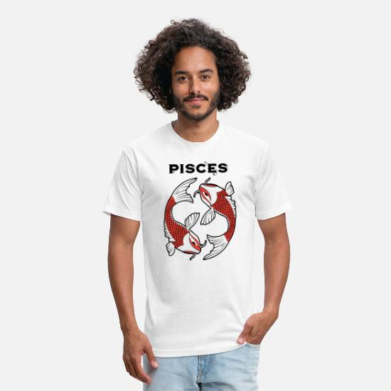 Sign Of Zodiac T-Shirts - Zodiac Signs - Pisces - Unisex Poly Cotton T-Shirt white