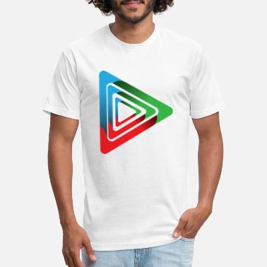 Ink Custom Play Button - Unisex Poly Cotton T-Shirt
