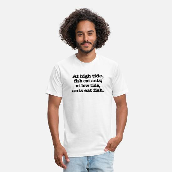 Motivational T-Shirts - At high tide - Unisex Poly Cotton T-Shirt white