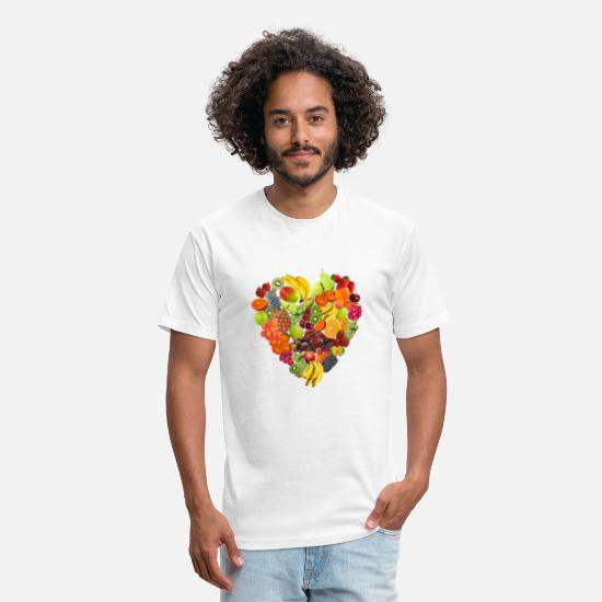 Heart T-Shirts - Fruity Heart - Unisex Poly Cotton T-Shirt white