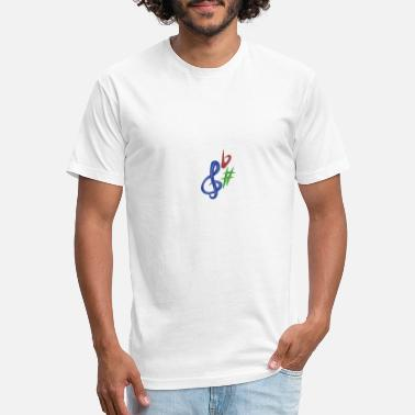 Music Note Music Notes - Unisex Poly Cotton T-Shirt