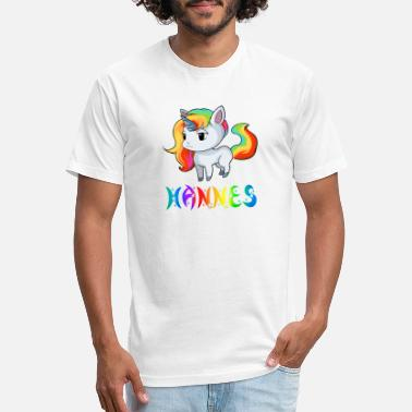 Hannes Hannes Unicorn - Unisex Poly Cotton T-Shirt