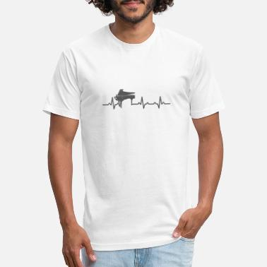 Rhythm Heartbeats Piano Lover Musician Design - Unisex Poly Cotton T-Shirt