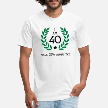 Laurel 50 - 40 plus tax - Unisex Poly Cotton T-Shirt
