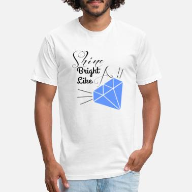 Bright shine bright like a diamond - Unisex Poly Cotton T-Shirt