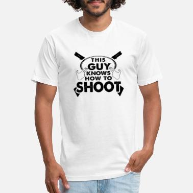 Rifle Guns Shooting Shooter Rifle Gift Shot Shirt - Unisex Poly Cotton T-Shirt