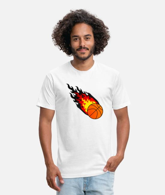 World Championship T-Shirts - Fireball Basketball Germany - Unisex Poly Cotton T-Shirt white