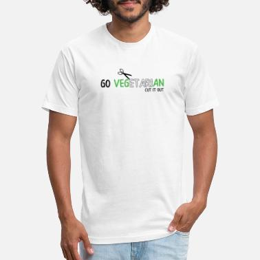 Go Out GO VEGETARIAN CUT IT OUT - Fitted Cotton/Poly T-Shirt by Next Level
