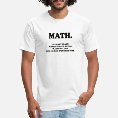 Math, just math - Unisex Poly Cotton T-Shirt
