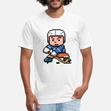 Pixel Hockey Winter Sports Tee pixel Hockey player - Unisex Poly Cotton T-Shirt