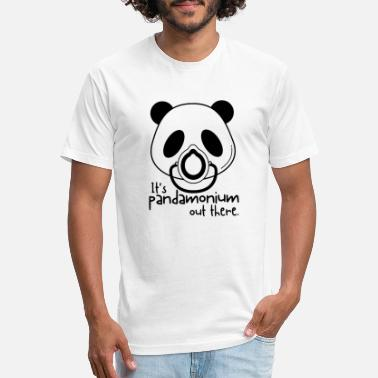 It's Pandamonium Out There - Unisex Poly Cotton T-Shirt