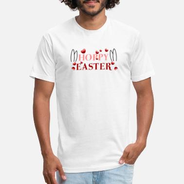 Happy Easter Hoppy Easter - Unisex Poly Cotton T-Shirt
