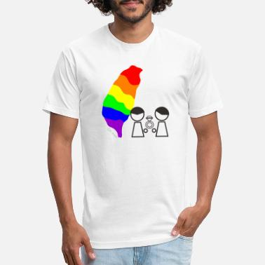 Marrige Taiwan same sex marrige RAINBOW - Unisex Poly Cotton T-Shirt