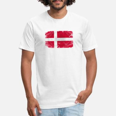 Denmark Denmark Flag - Unisex Poly Cotton T-Shirt