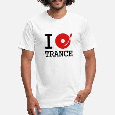 Listen I dj / play / listen to trance - Unisex Poly Cotton T-Shirt