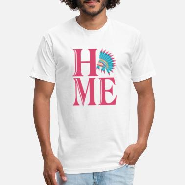 Home Indian Home Indian Headdress - Unisex Poly Cotton T-Shirt